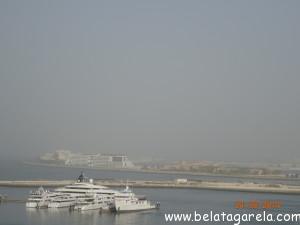 Vista da Logo Island e Palm Jumeirah ao fundo