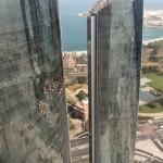 Vista das Etihad Towers de nosso quarto