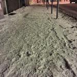 Calçadas com neve