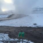 Placas informando as temperaturas expelidas