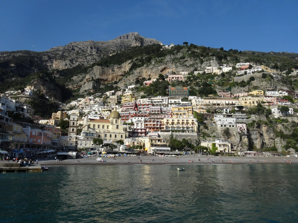 Vista de Positano do mar