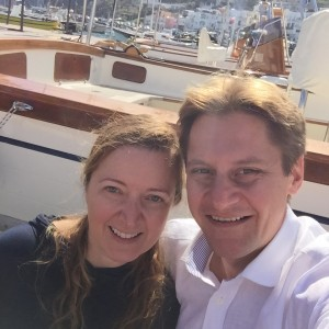 Selfie no barco de saída